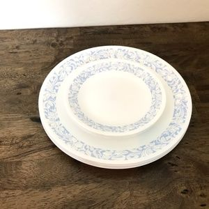Corelle Sea and Sand Dinner and Dessert Plates 8